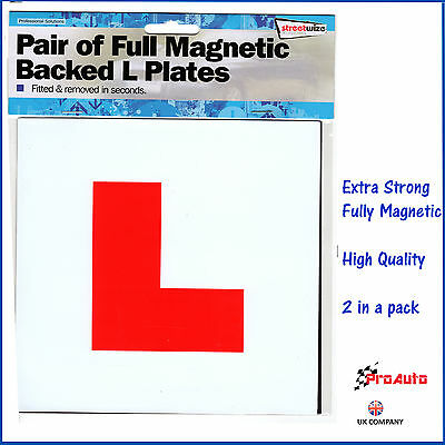2 x Learner 'L' Plates Fully Magnetic Extra strong Car Bike NEW Driver L plates