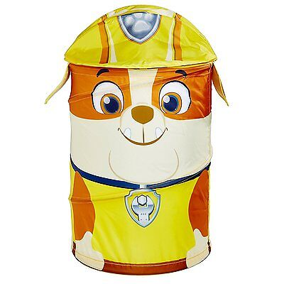 Boys Children Paw Patrol Rubble Pop Up Toy Storage Bin