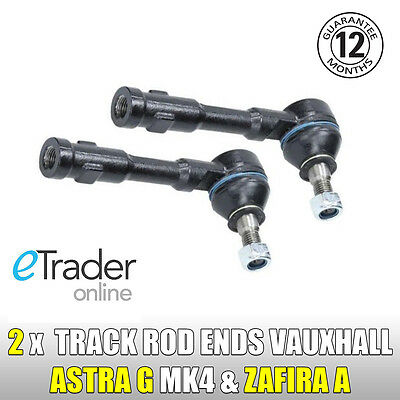 Vauxhall ASTRA G MK4 & ZAFIRA A LEFT + RIGHT Outer Track Rod Ends Steering PAIR