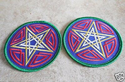 Celtic Pentagram Star Fabric Clothing Patch Iron On Spirit Wicca Pagan Astrology