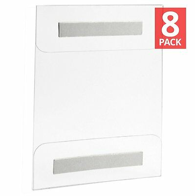 AcrylicView 8 Pack Wall Mount Acrylic Sign Holder 8.5 X 11 or 11 X 8.5 ... New