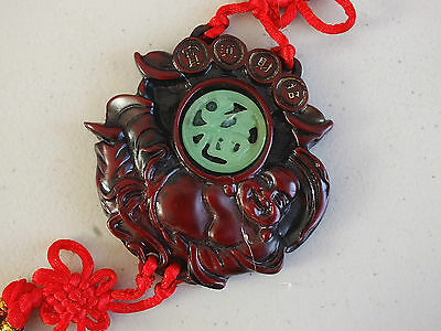 Chinese Buddha Red Lucky Hanging Charm Car Feng Shui Business Birthday Party A3