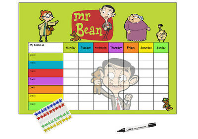 Mr Bean Animated Re-usable Reward Chart (including FREE Star Stickers and Pen)