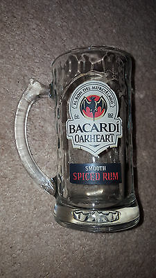 Barcardi Oakheart Spiced Rum Glass Mug/Stein/ Drinking Glass - Great Condition!