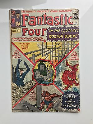 Fantastic Four #17 1963 Marvel Silver Age Comic