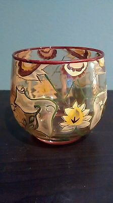 Yankee Candle Painted Glass Fall Votive/Tealight Holder