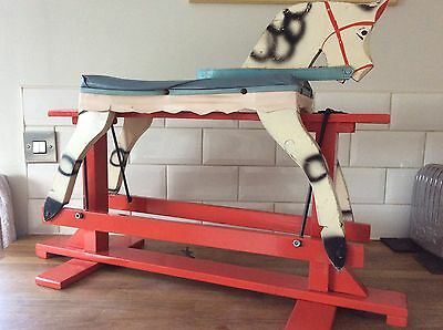 1950s Vintage Wooden Rocking Horse Excellent Condition