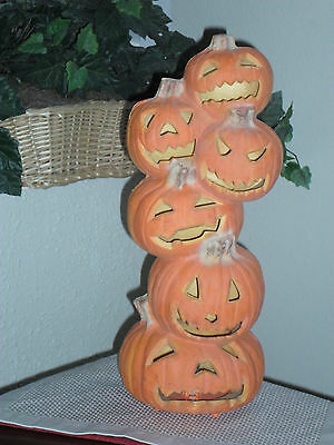"Halloween 18"" JOL Pumpkin Stack Foam Blow Mold - Trendmasters"