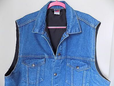 NRA Denim Hunting/Sports Vest LARGE USA GENUINE National Rifle Association