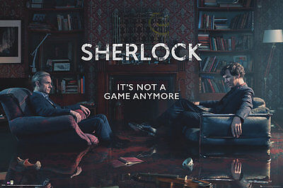 Sherlock - Tv Show Poster / Print (Rising Tide - It's Not A Game Anymore)