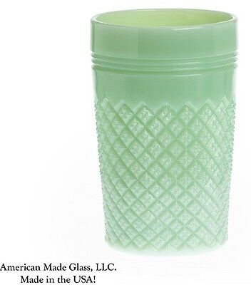 Jade Jadite Jadeite Milk Green Glass Addison Pattern Tumbler - Mosser USA