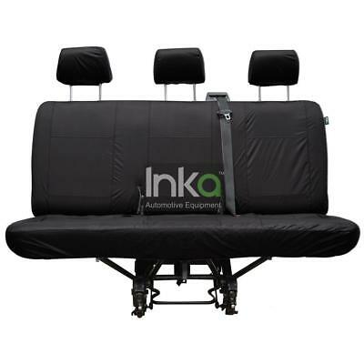 VW T5 T6 Caravelle California Rear Inka Tailored Waterproof Seat Cover Black
