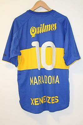 Boca Juniors 2000 Home Shirt L Maradona #10