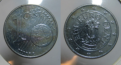 1 centesimo di EURO  2009 color zinco Austria   C0302