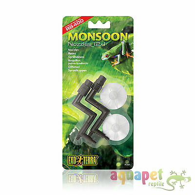 Exo Terra Replacement 2 Nozzles with Suction Cups for PT2495 Monsoon RS400