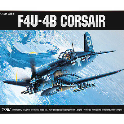 Academy 1/48 F4U-4B CORSAIR Plastic Model Kit Airplanes #12267
