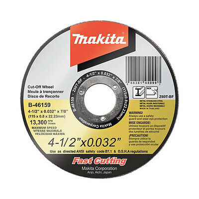 Makita B-46159-25 4-1/2-inch 60-Grit Ultra Thin Cut-Off Grinding Wheels, 25-Pack