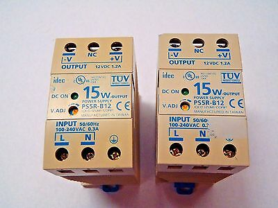 Idec Power Supply PS5R-B12 Input 100-240VAC Output 12VDC 1.2A  LOT OF (2)