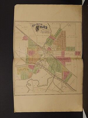Ohio, Trumbel County Map, 1874 City of Niles, Double Page K4#02