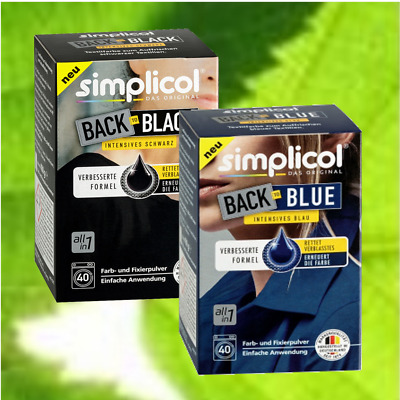 (8,25 €/kg) Simplicol Farberneuerung Farbauffrischung Back to black blue 750g #3