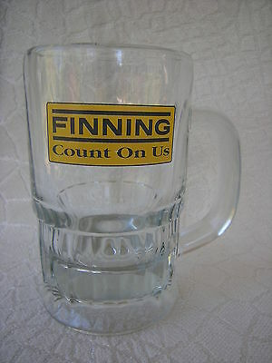 Vintage Libbey Glass Canada Heavy FINNING STEIN Count On Us