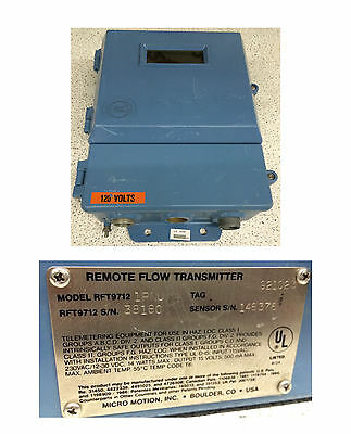 Micro Motion RFT9712 Remote Flow Transmitter