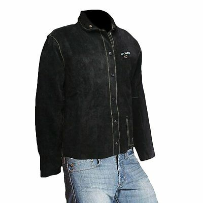 Welding leather jacket premium cowhide jacket for metal & fab works in SIZE XXL