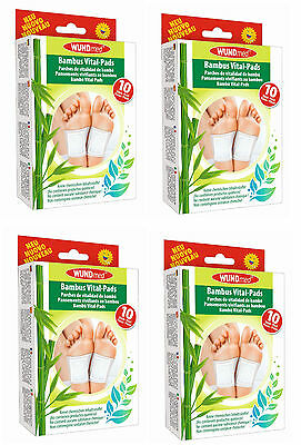 Bambus Vital Pflaster Pads Detox Entschlackung Entgiftung Fußpflaster 40 Stück