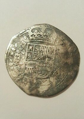 Rare 1/4 Patagon 1645 Spanish Netherlands 1/4 Patagon Arms