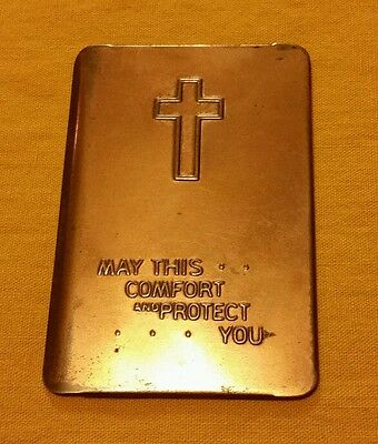 MILITARY Metal Bible Cover Pocket Shield MAY THIS COMFORT AND PROTECT YOU WWII