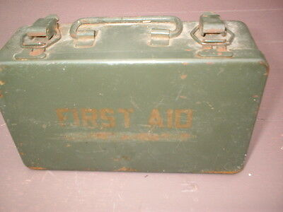 Vintage Bell Systems First Aid Kit Metal Box Bandages, Compresses Telephone PA