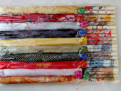 6 Pair Japanese Mix Color Chopsticks Bag Birthday Wedding Dinner Party Chinese