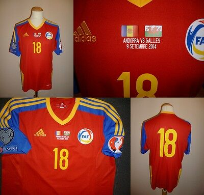 Andorra home shirt, maglia 2014/2015, match issue, size L