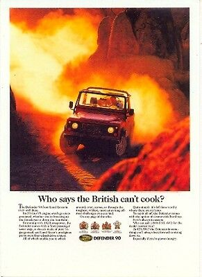 Land Rover Defender 90 - Modern postcard by Vintage Ad Gallery