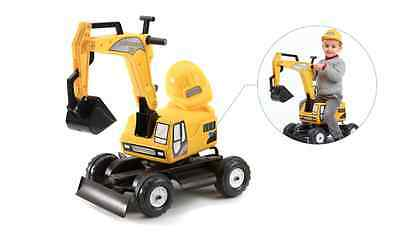 Falk Ride On Toys Excavator With Trailer And Hard Hat (2-5 Years)