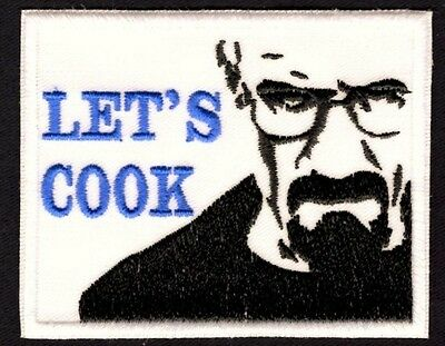 Let's Cook Patch Breaking Bad Walter White Style Badge Iron or Sew On Patch