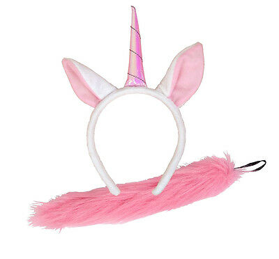 UNICORN EARS AND TAIL Adult Child Fancy Dress Theater Princess Magical Girls