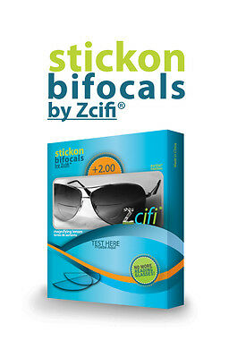 Stick On Bifocals by Zcifi 2  Packs +2.00 FREE Case