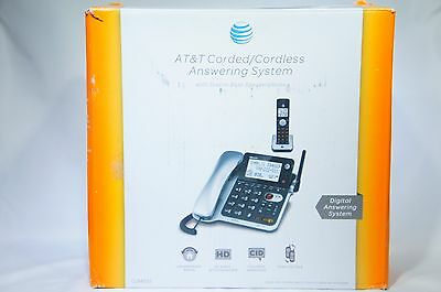 AT&T CL84102 DECT 6.0 Expandable Corded/Cordless Phone with Answering VG (H-44)