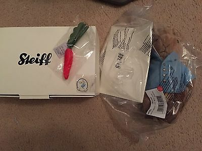 Very Rare Steiff Peter Rabbit, Still In Original Packaging, With Box/carrot