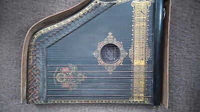 Antique Zither ,quitar Made In Saxony Germany