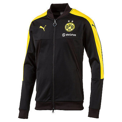 Puma BVB Borussia Dortmund 2016 - 2017 Training Soccer Jacket Black / Yellow