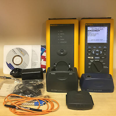 Fluke DSP-4000 Cable Analyzer Set | Multimode Fiber | Cat 6 | New Batteries!