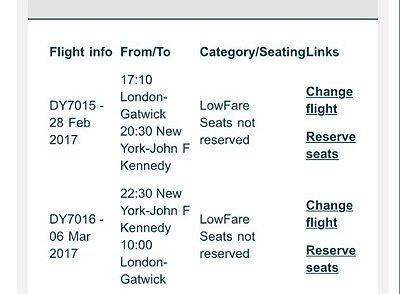 1X TICKET TO NEW YORK CITY FROM LONDON GATWICK 28th FEB- 6TH OF MARCH