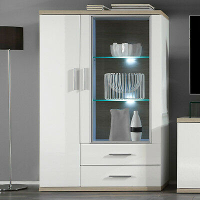 standvitrine vitrinenschrank vitrine glas chateau wei. Black Bedroom Furniture Sets. Home Design Ideas