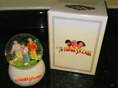 Three Stooges Golf Snow Globe By Westland With Box