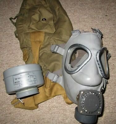 Finnish M61 Gas Mask W/ Cannister & Bag Military Surplus