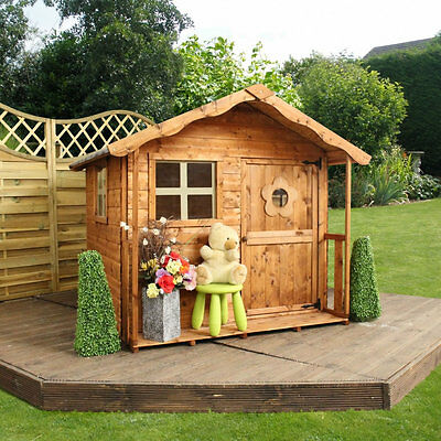 Mercia Wooden Garden Playhouse 5ft x 5ft Outdoor Wendy Houses Play House NEW