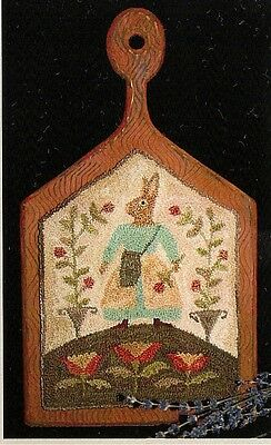 """Punchneedle Pattern by Brenda Gervais (With Thy Needle) """"Tulip Time"""" Bunny"""