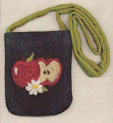 """Punchneedle Pattern by The Cooperage  """"Apple Purse"""""""